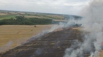 Niebezpieczny pożar w miejscowości Luszyn.