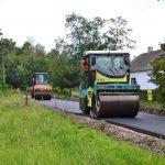 Prace przy przebudowie drogi