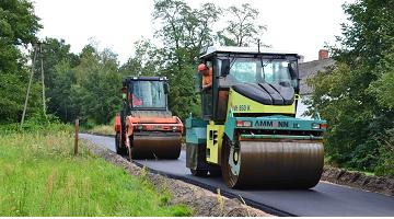 Przebudowa drogi w Rakowie na długości 227,31 mb.