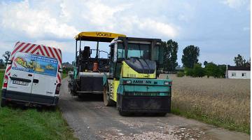 Przebudowa drogi w Rakowcu na długości 285,690 mb.