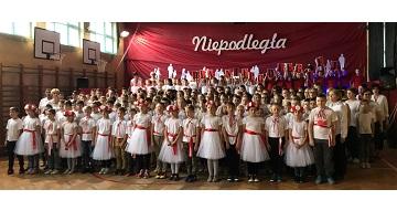 Uroczyste wykonanie Hymnu Narodowego