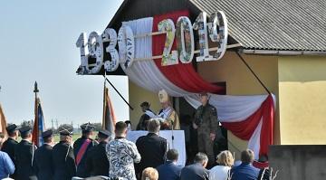 Uroczystość z okazji 80 rocznicy wybuchu II wojny światowej.