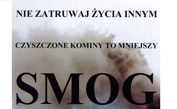 """Komunikat: """"Czyszczone kominy to mniejszy smog"""""""