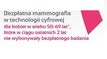 Bezpłatna mammografia – 13 stycznia 2020 r.
