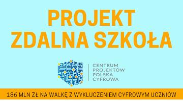 """Otrzymanie dotacji w ramach programu """"Zdalna Szkoła"""""""
